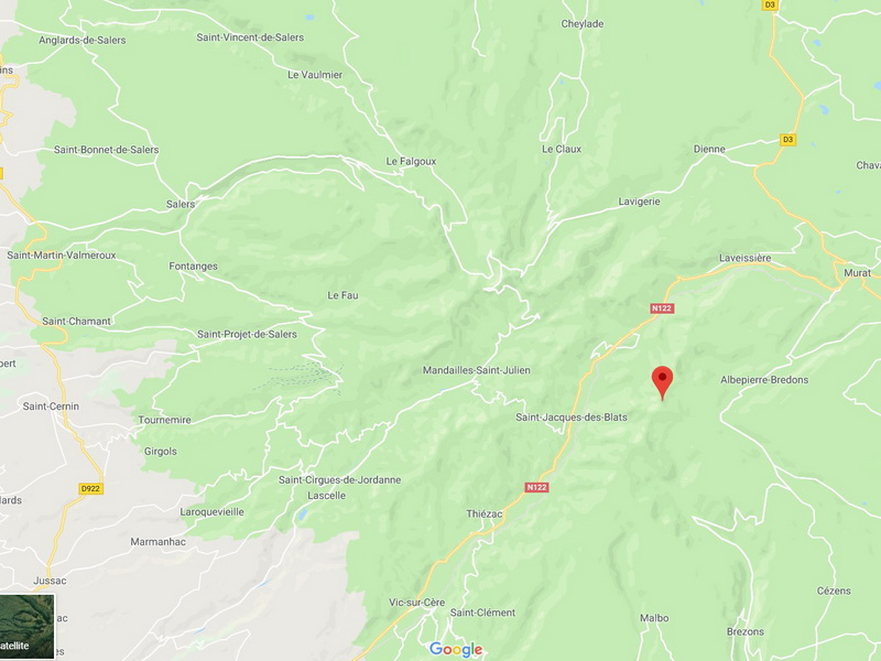localisation plomb du cantal